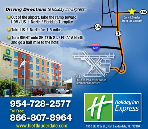Holiday Inn Express Ft. Lauderdale Cruise-Airport, FL 33316 near Fort Lauderdale-hollywood International Airport View Point 13