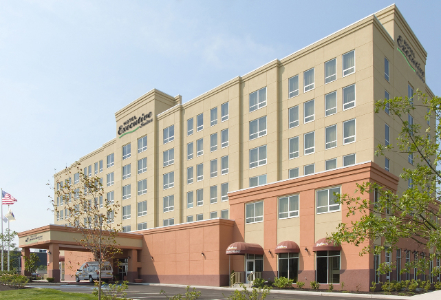 Front view of Hotel Executive Suites, NJ 07008